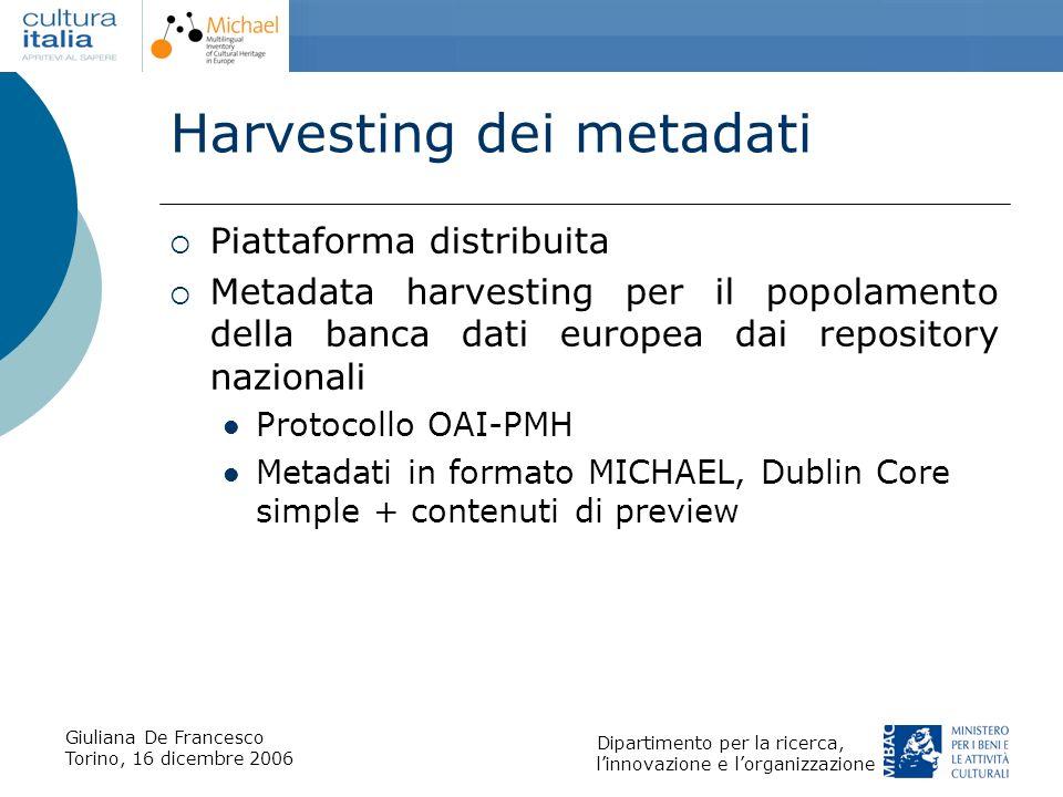 Harvesting dei metadati