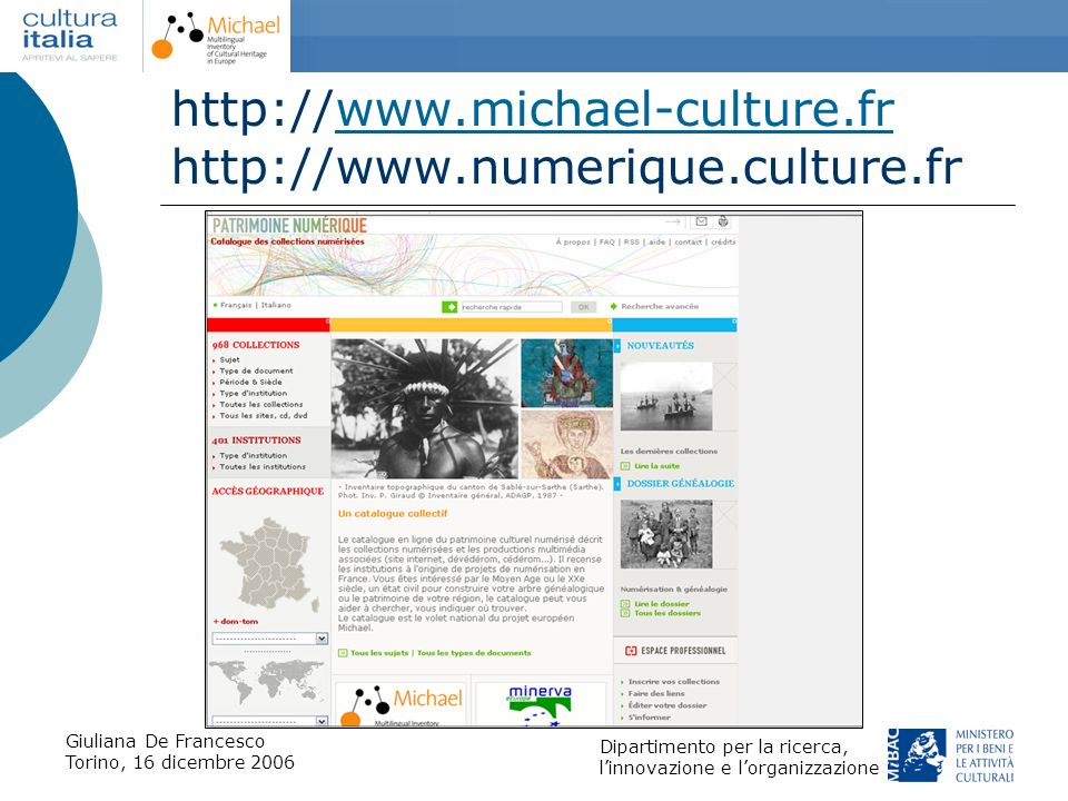 http://www.michael-culture.fr http://www.numerique.culture.fr