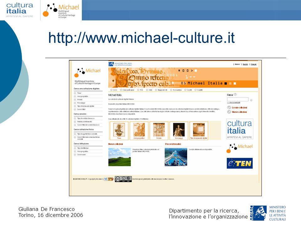 http://www.michael-culture.it Giuliana De Francesco