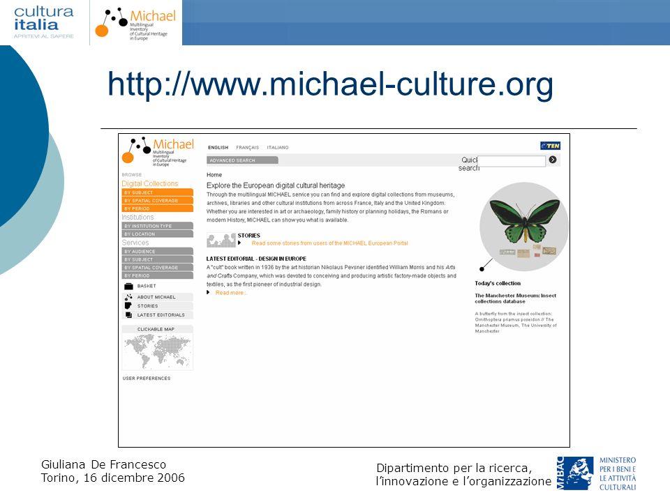 http://www.michael-culture.org Giuliana De Francesco