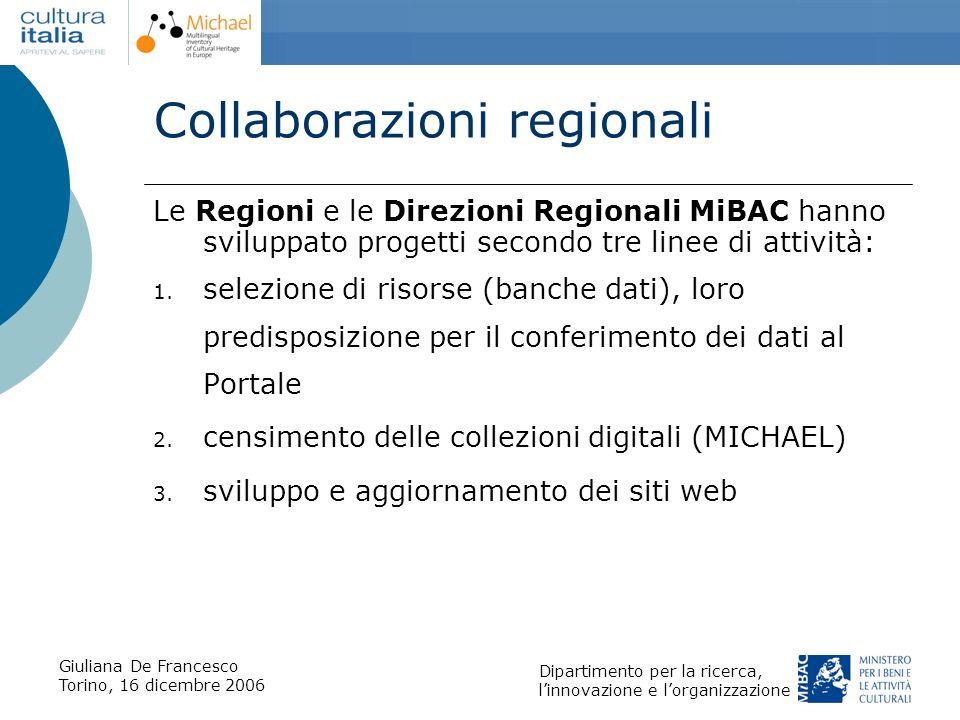 Collaborazioni regionali