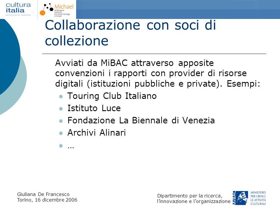 Collaborazione con soci di collezione