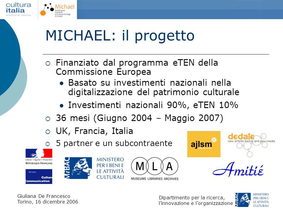 MICHAEL: il progetto Finanziato dal programma eTEN della Commissione Europea.