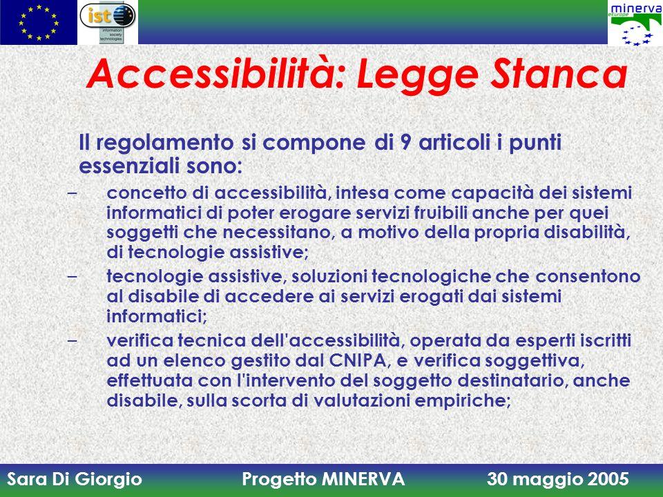 Accessibilità: Legge Stanca