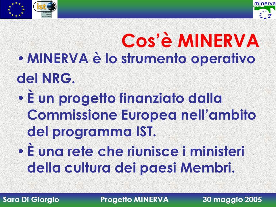 Cos'è MINERVA MINERVA è lo strumento operativo del NRG.