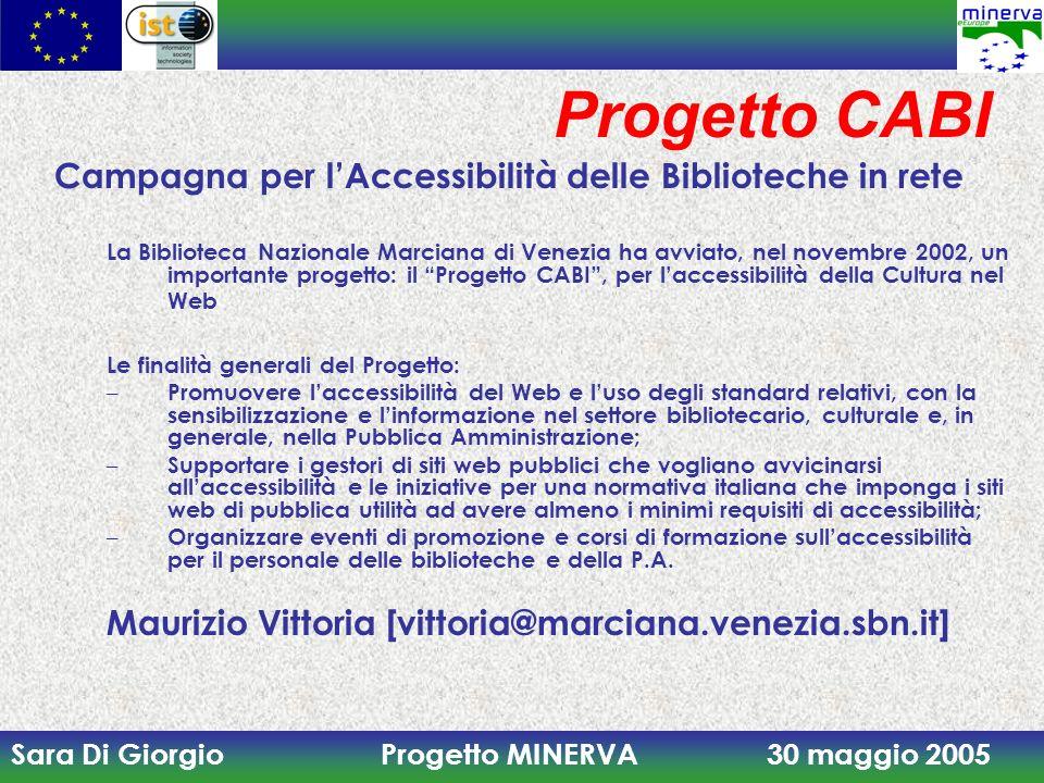 Progetto CABI Campagna per l'Accessibilità delle Biblioteche in rete