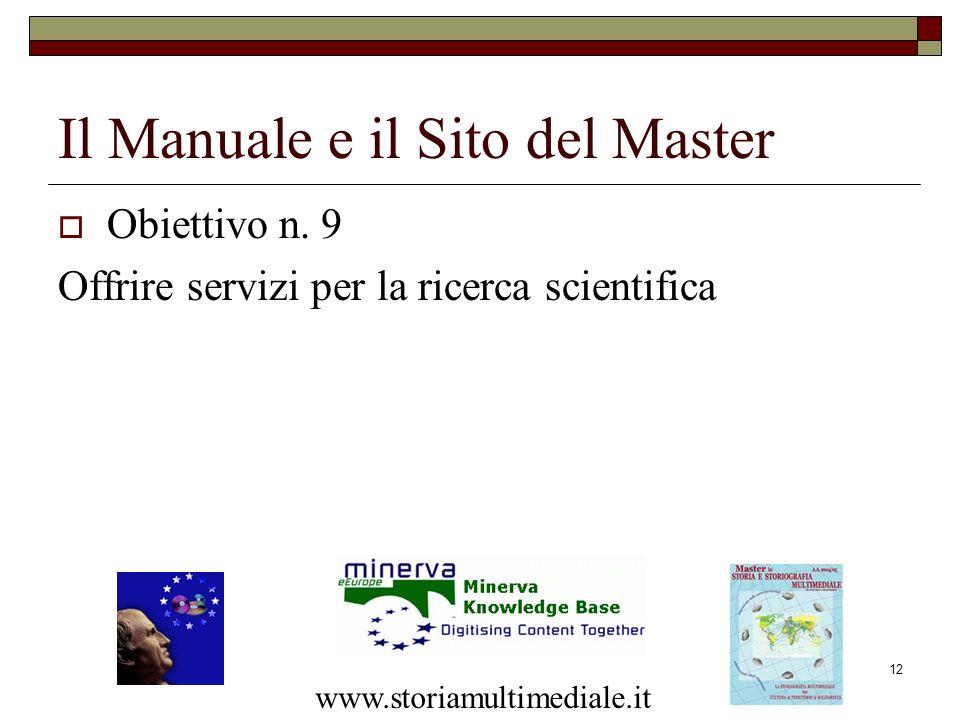 Il Manuale e il Sito del Master