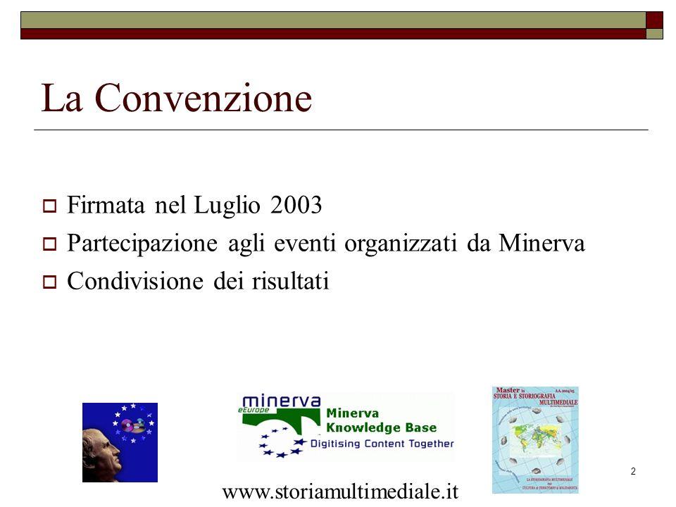 La Convenzione Firmata nel Luglio 2003