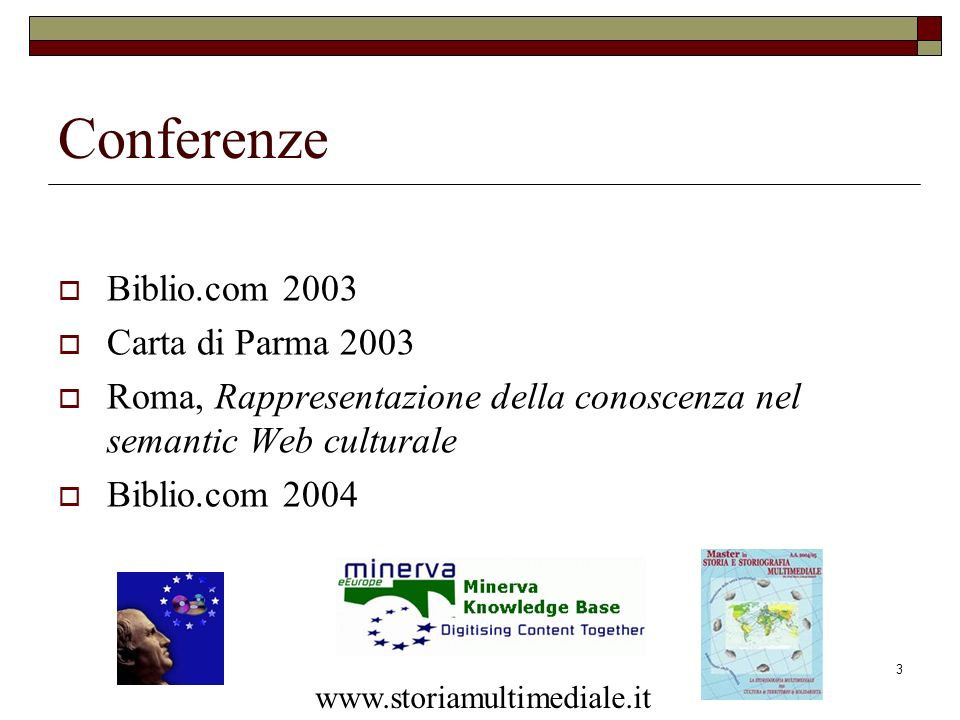 Conferenze Biblio.com 2003 Carta di Parma 2003