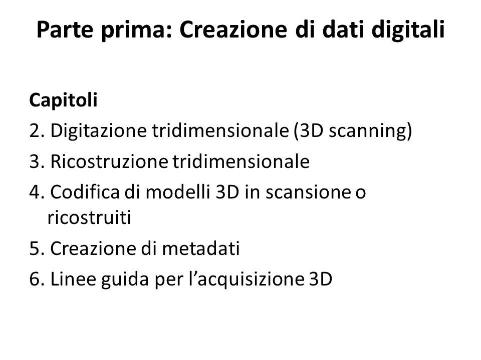 Parte prima: Creazione di dati digitali