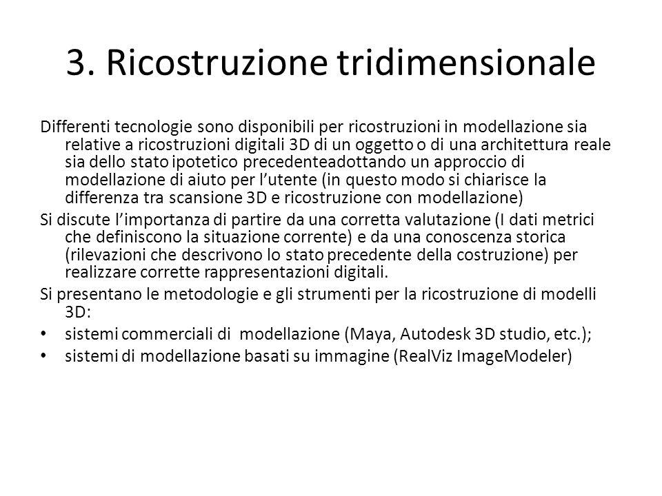 3. Ricostruzione tridimensionale