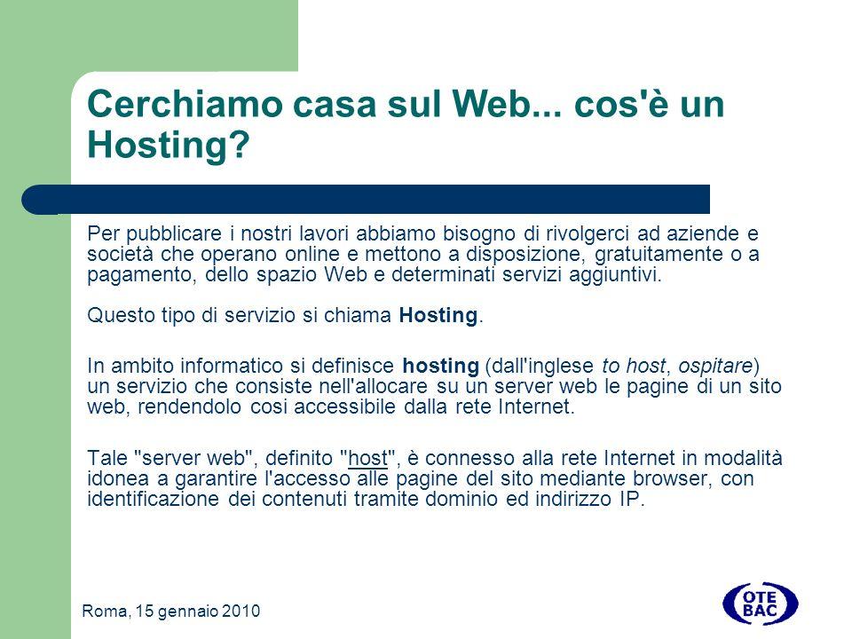 Cerchiamo casa sul Web... cos è un Hosting