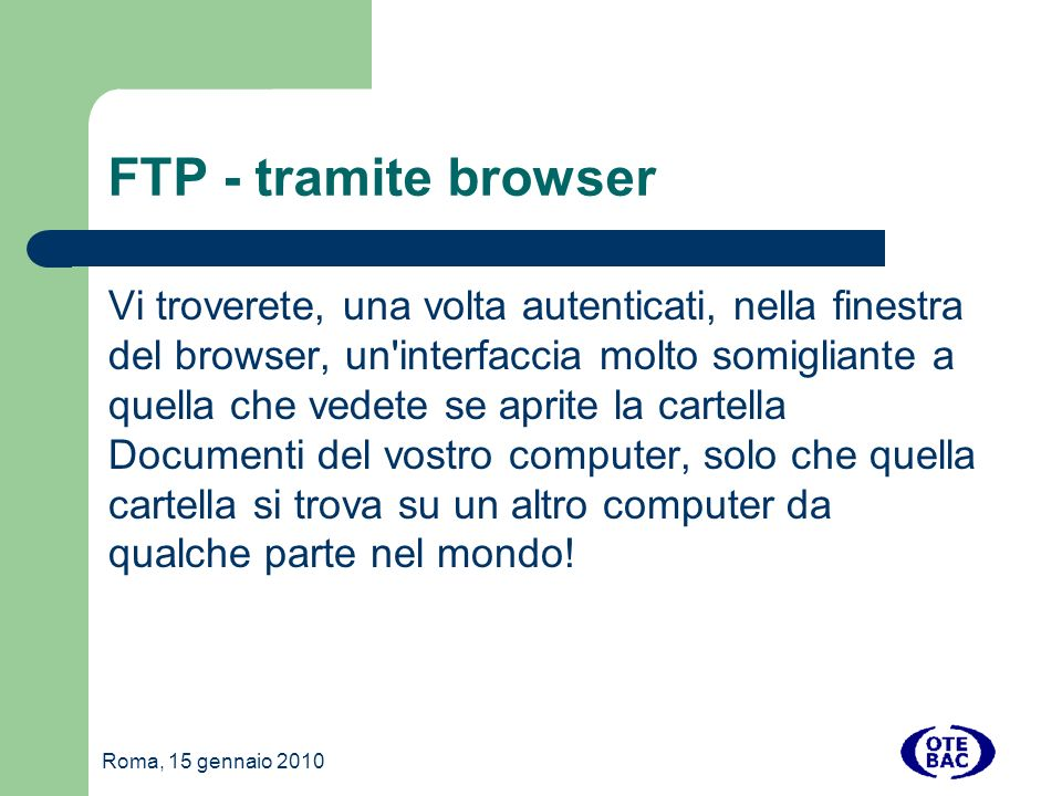 FTP - tramite browser