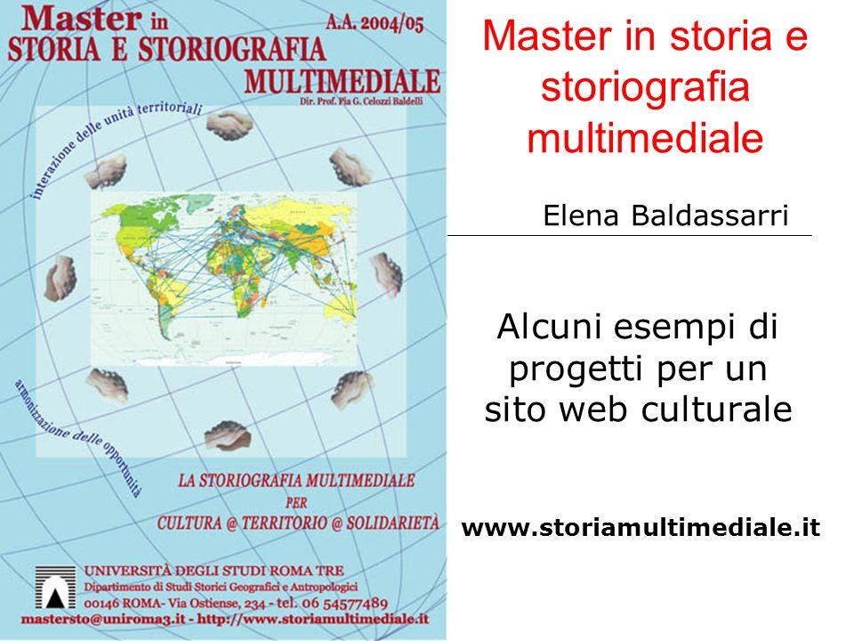 Master in storia e storiografia multimediale