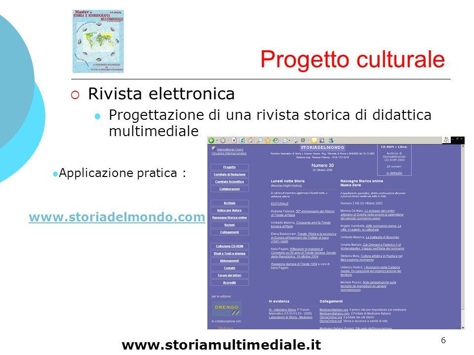 Progetto culturale Rivista elettronica