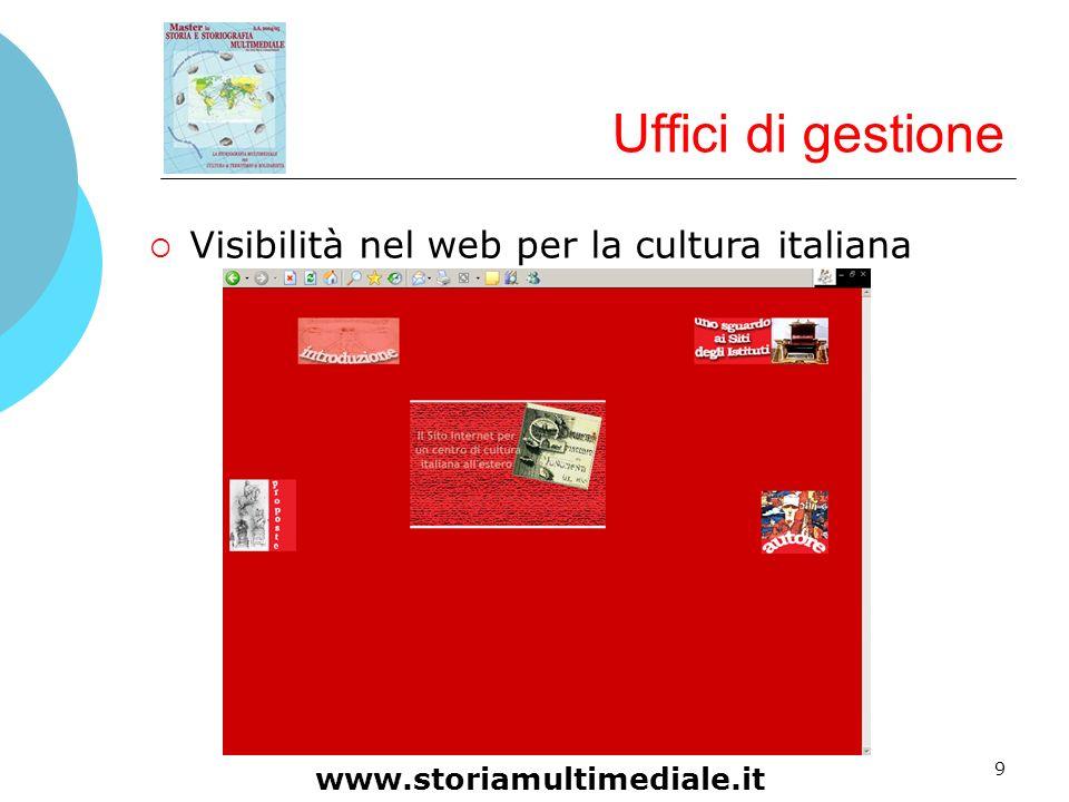 Uffici di gestione Visibilità nel web per la cultura italiana