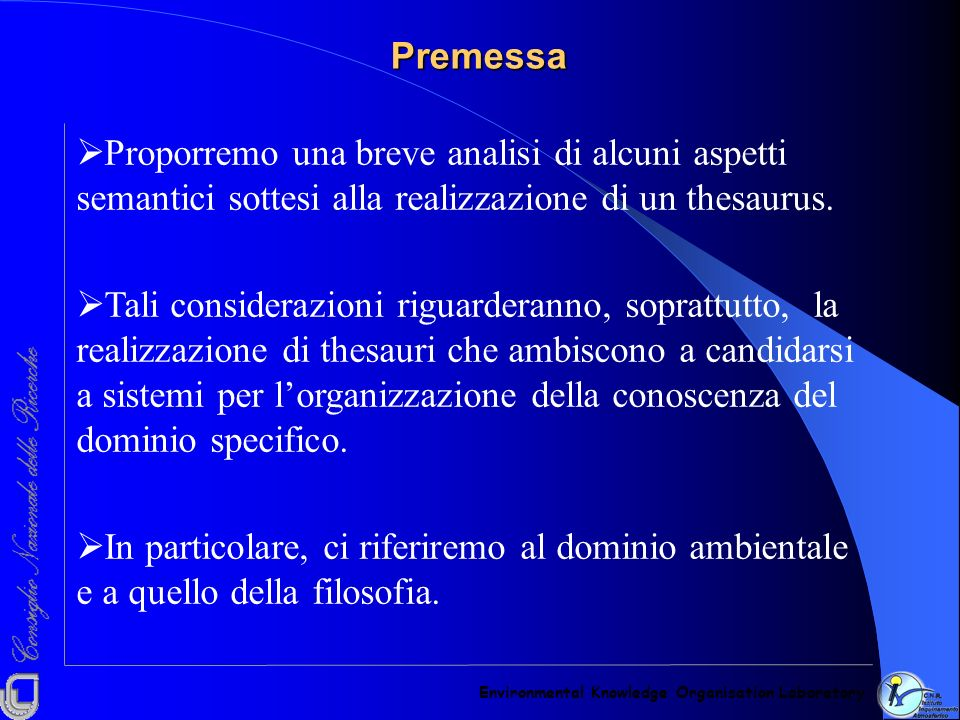 PremessaEnvironmental Knowledge Organisation Laboratory.