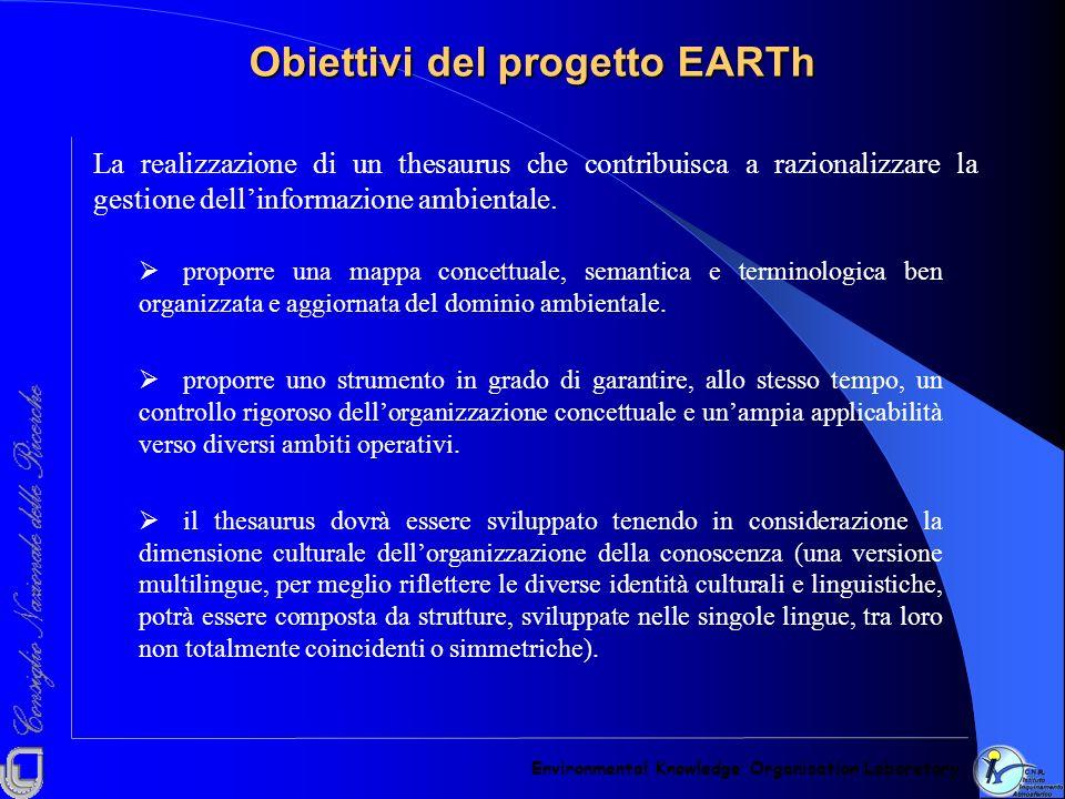 Obiettivi del progetto EARTh