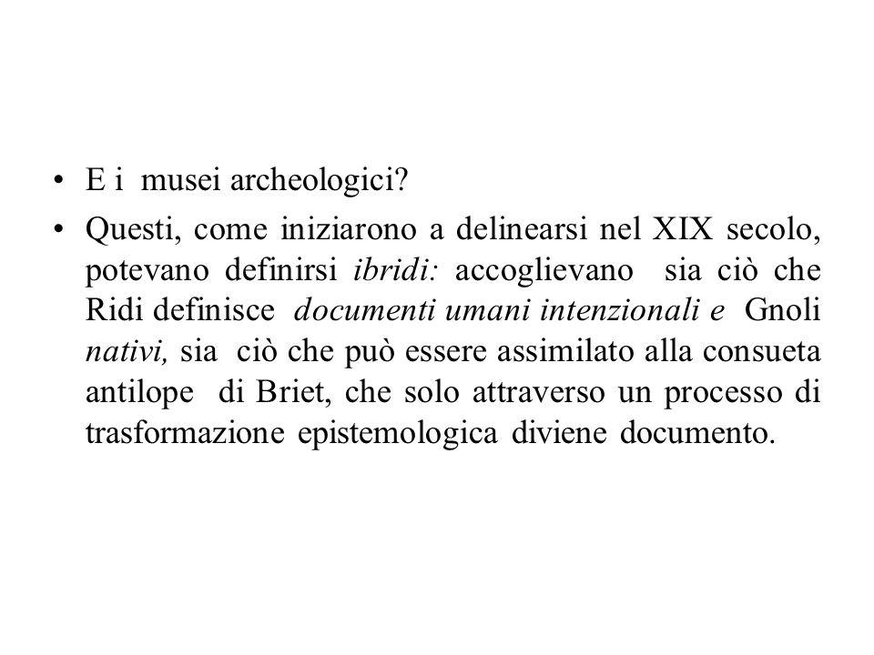 E i musei archeologici