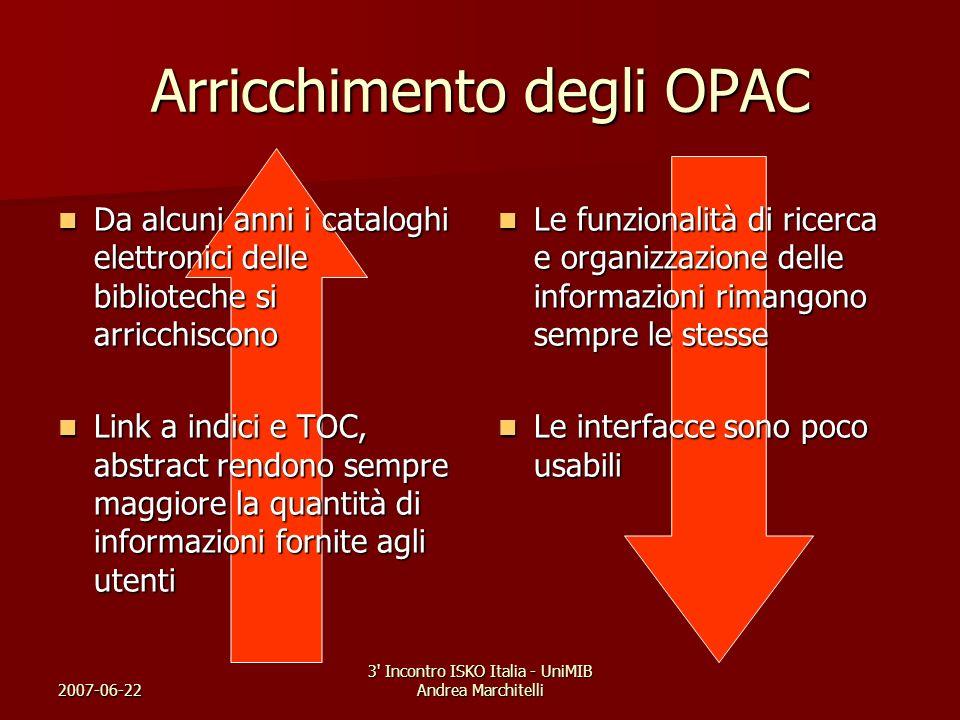 Arricchimento degli OPAC