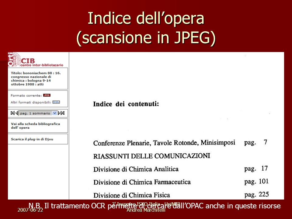Indice dell'opera (scansione in JPEG)