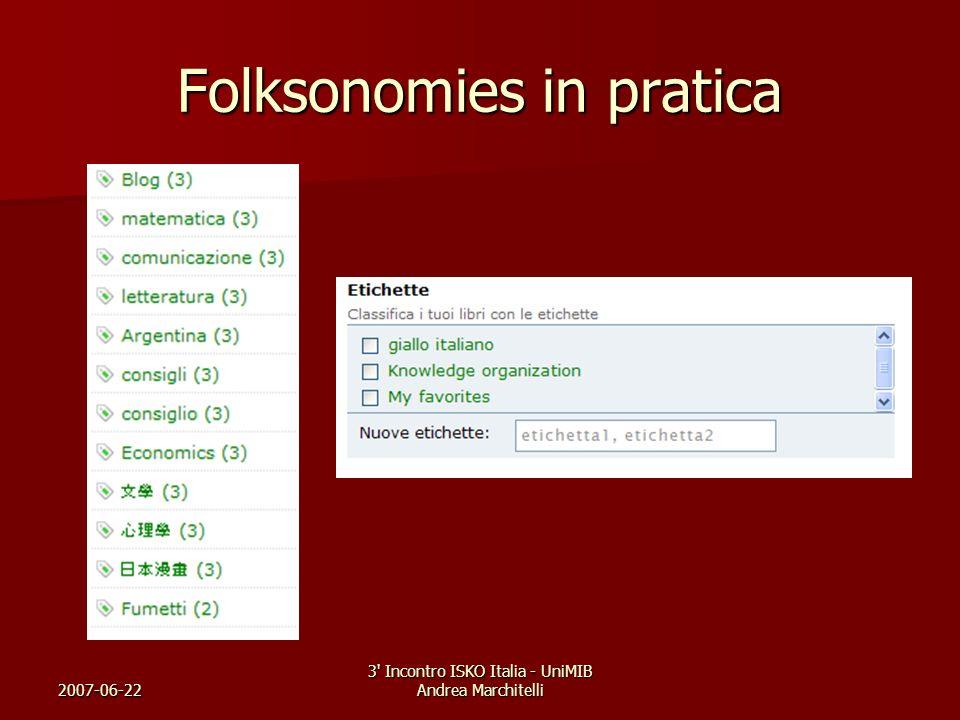 Folksonomies in pratica