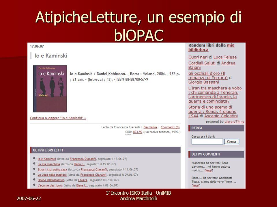 AtipicheLetture, un esempio di blOPAC