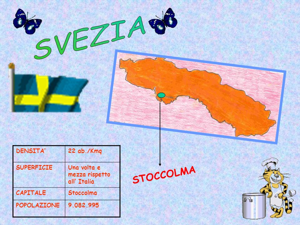 SVEZIA STOCCOLMA DENSITA' 22 ab./Kmq SUPERFICIE