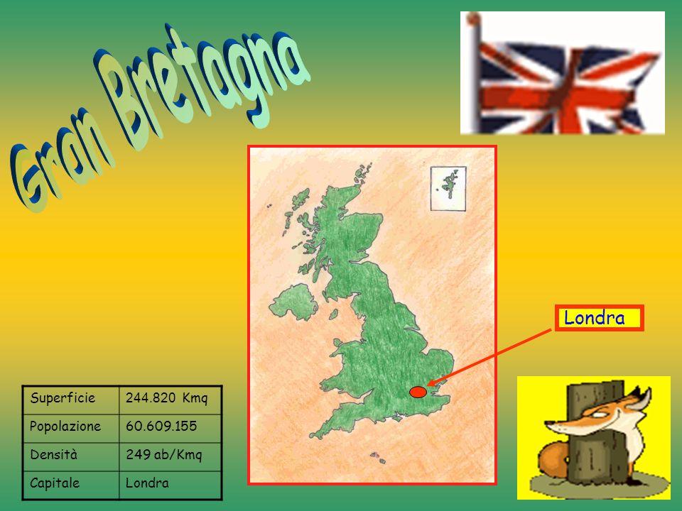Gran Bretagna Londra Superficie 244.820 Kmq Popolazione 60.609.155