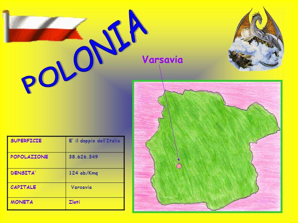 POLONIA Varsavia SUPERFICIE E' il doppio dell'Italia POPOLAZIONE