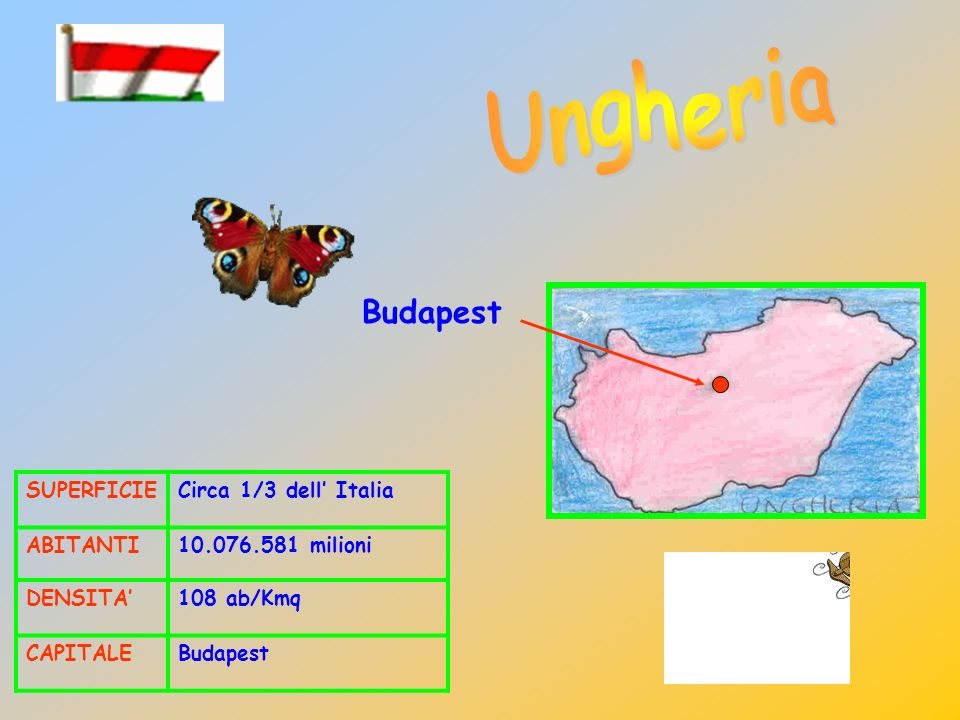 Ungheria Budapest SUPERFICIE Circa 1/3 dell' Italia ABITANTI