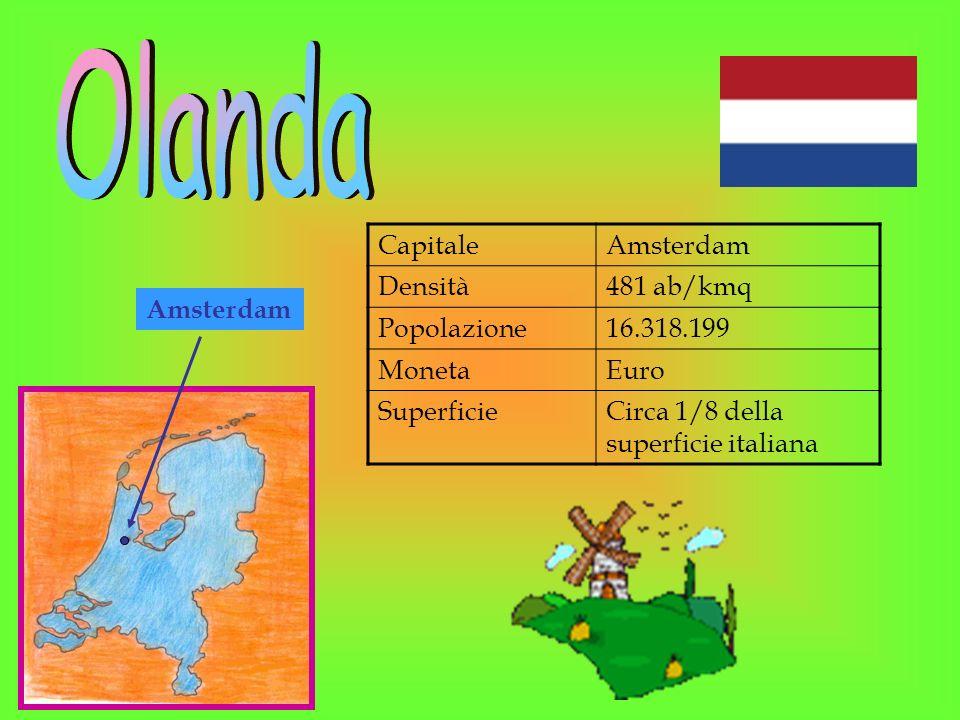 Olanda Capitale Amsterdam Densità 481 ab/kmq Popolazione 16.318.199
