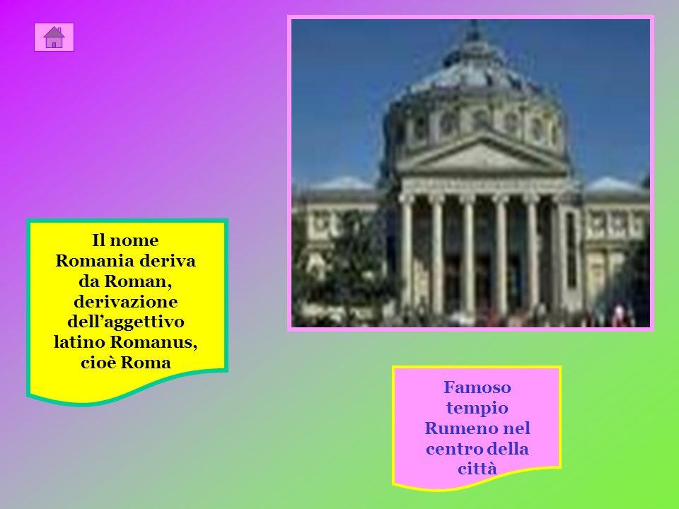 Famoso tempio Rumeno nel centro della città