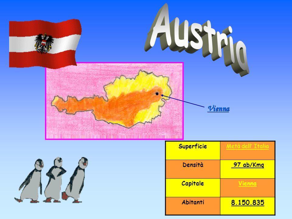 Austria Vienna 8.150.835 Superficie Metà dell' Italia Densità