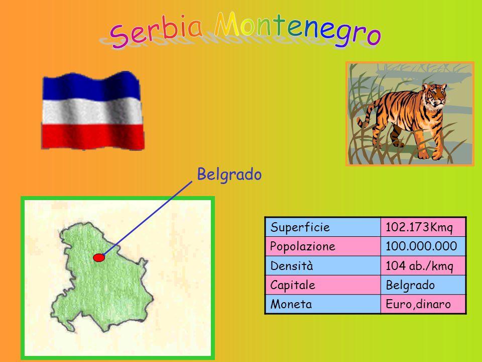 Serbia Montenegro Belgrado Superficie 102.173Kmq Popolazione
