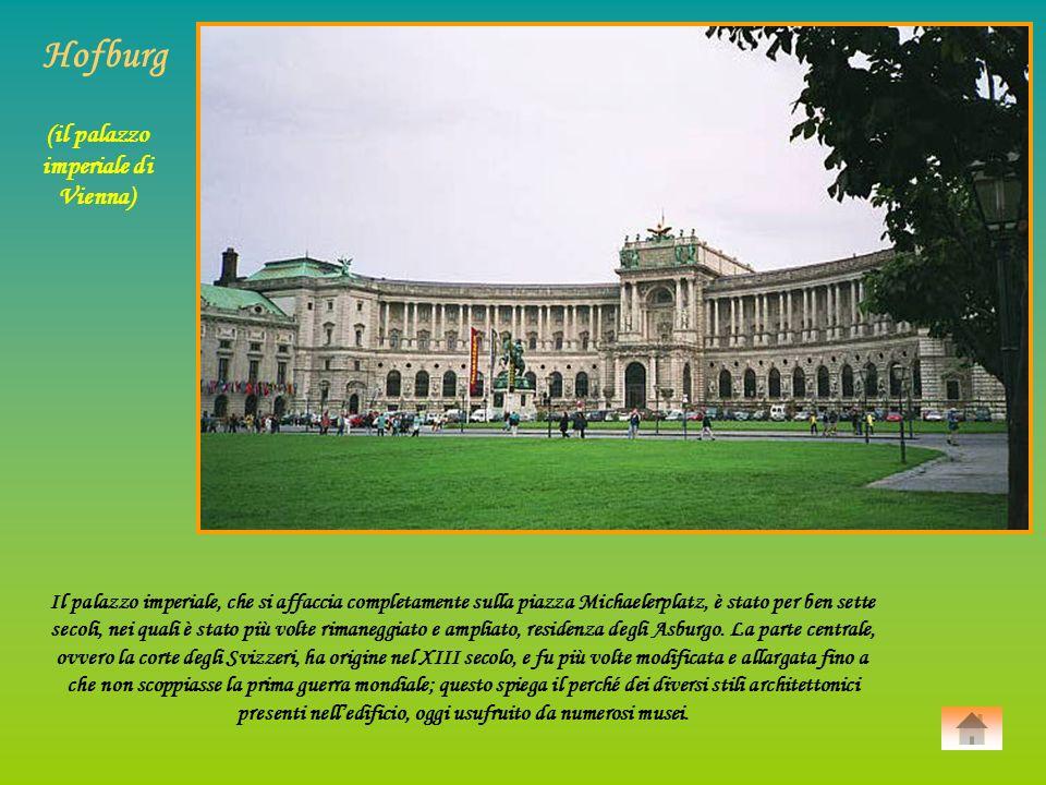 (il palazzo imperiale di Vienna)