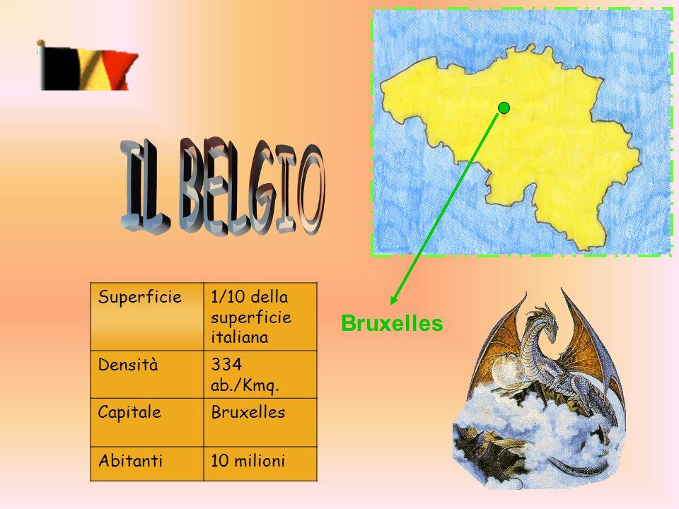 IL BELGIO Bruxelles Superficie 1/10 della superficie italiana Densità