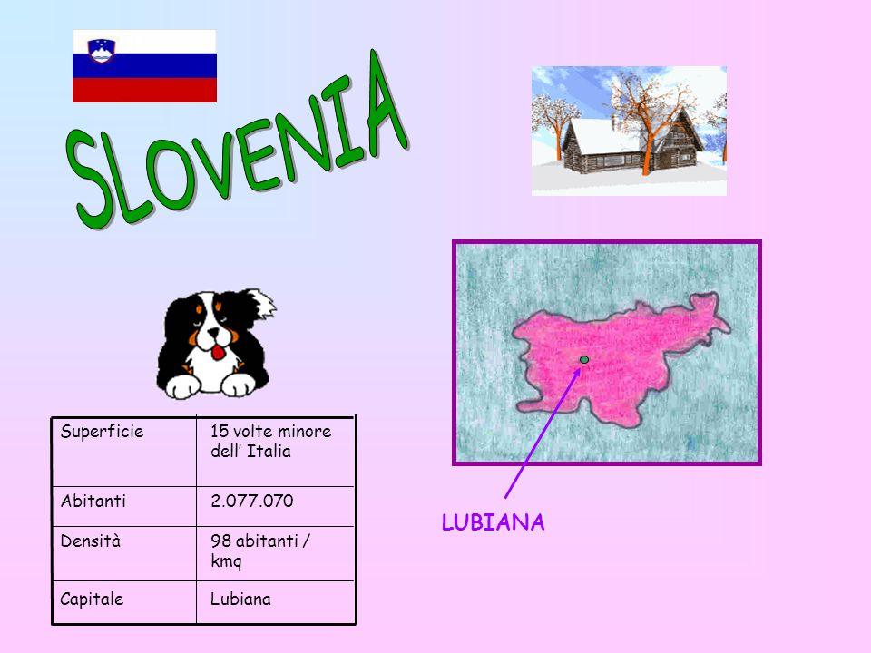 SLOVENIA LUBIANA Superficie 15 volte minore dell' Italia Abitanti