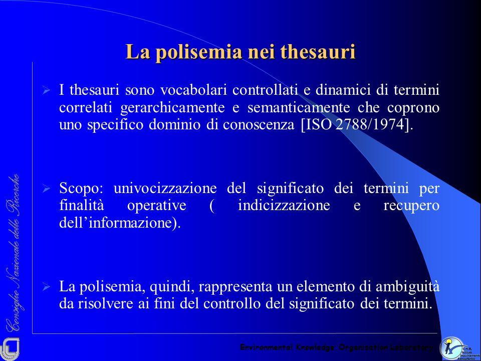 La polisemia nei thesauri