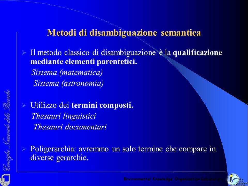 Metodi di disambiguazione semantica
