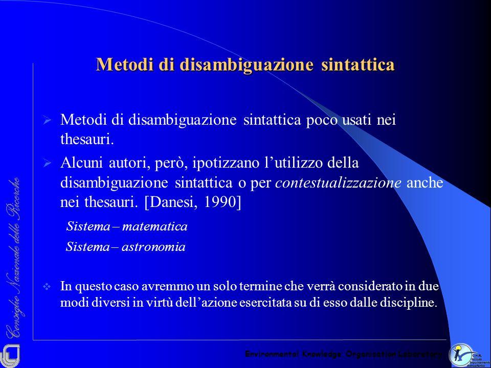 Metodi di disambiguazione sintattica