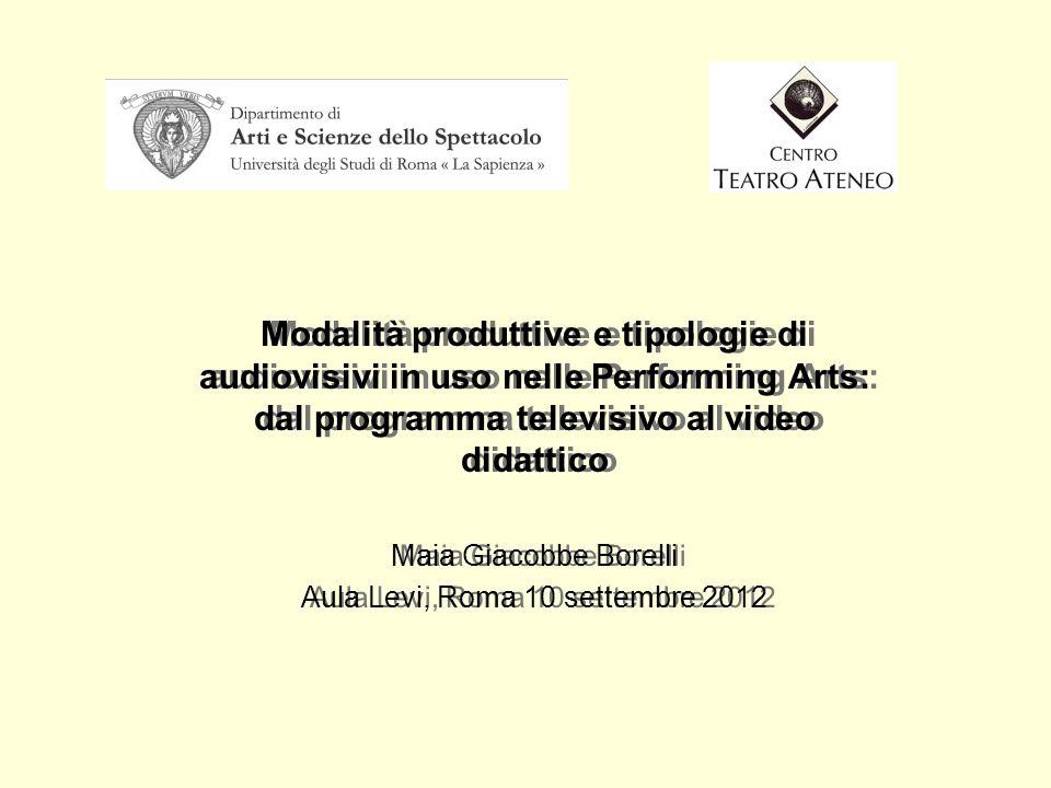 Aula Levi, Roma 10 settembre 2012