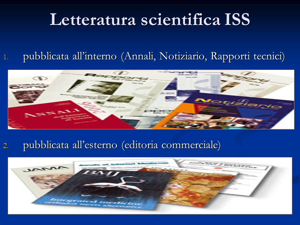 Letteratura scientifica ISS