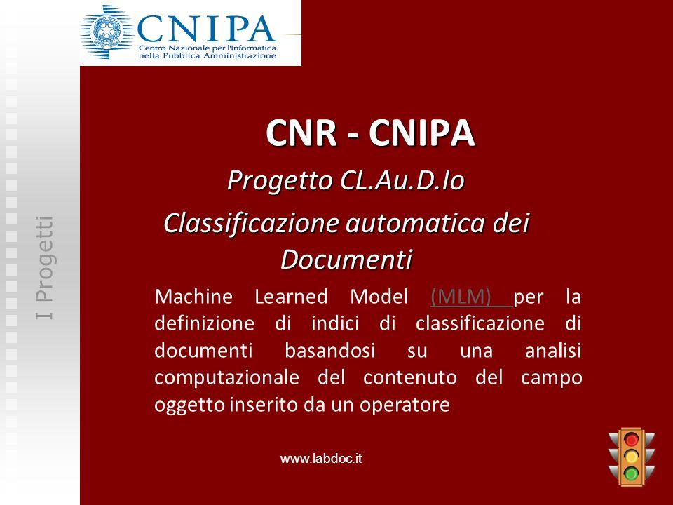 Progetto CL.Au.D.Io Classificazione automatica dei Documenti