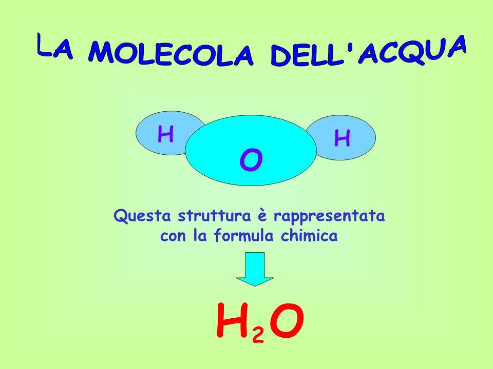 Questa struttura è rappresentata con la formula chimica