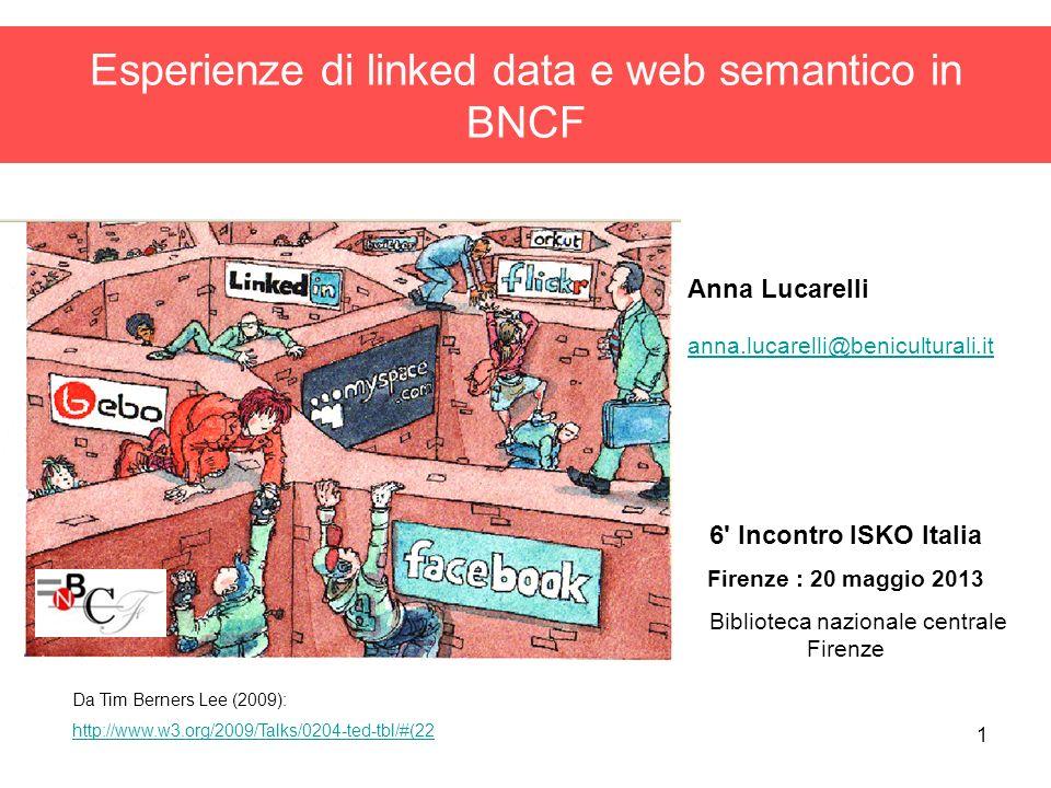 Esperienze di linked data e web semantico in BNCF