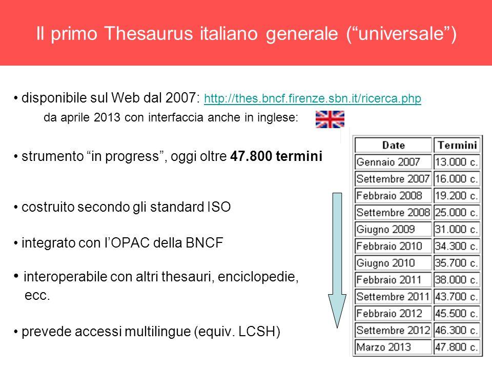 Il primo Thesaurus italiano generale ( universale )