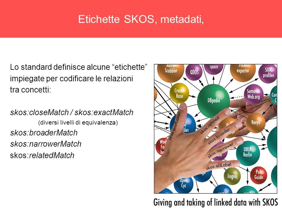 Etichette SKOS, metadati,