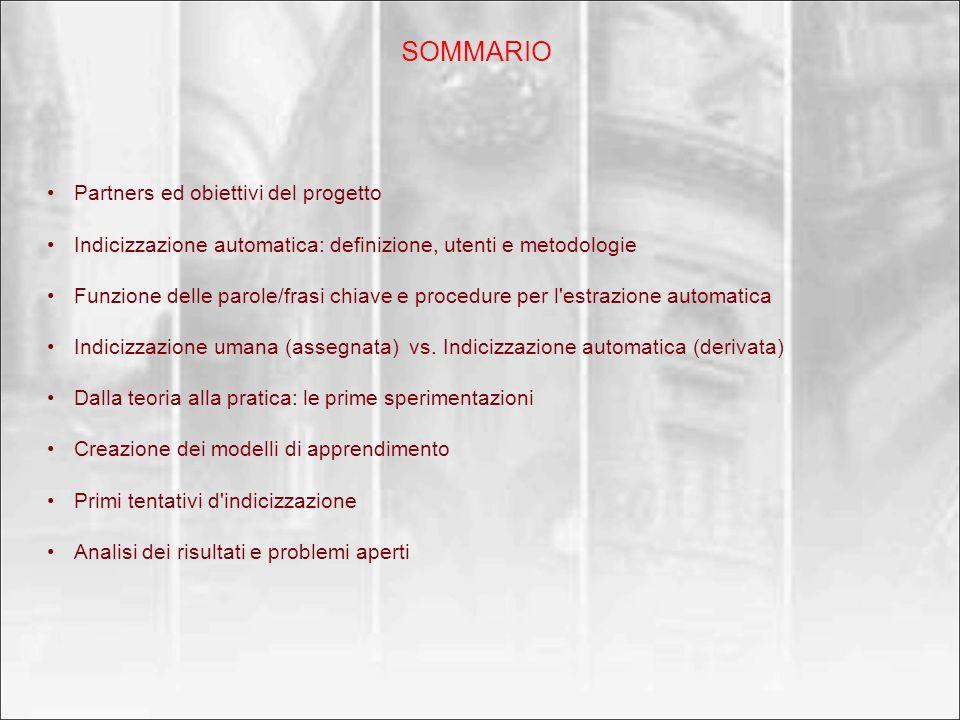 SOMMARIO Partners ed obiettivi del progetto