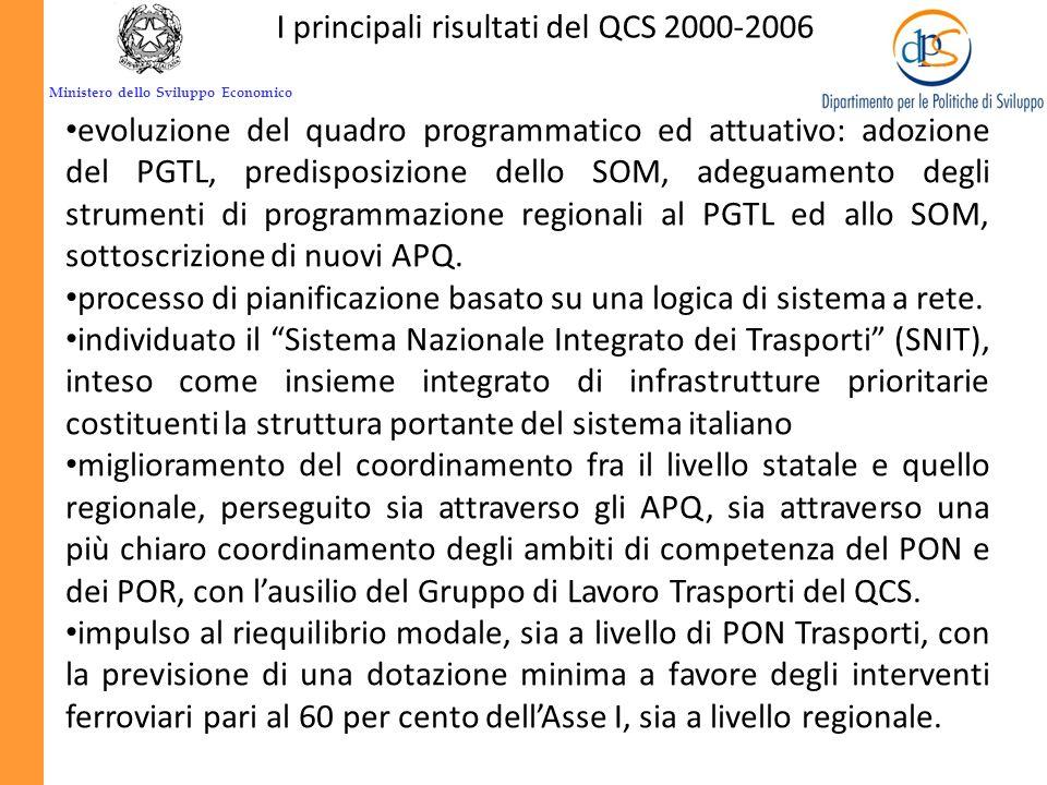 I principali risultati del QCS 2000-2006